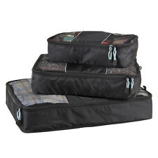 Luggage Packing Cubes Travel Cloth Organizer Cloth Storage Bags Easy Packer S/3