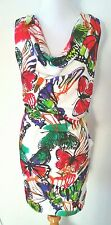NWT NEW YORK AND CO PAINTED BUTTERFLY DRESS SCARF SET SZ XL 14 16