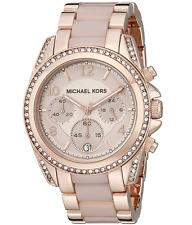 New Michael Kors MK5943 Crystal Blair Pavé Rose Gold-Tone Ladies Watch