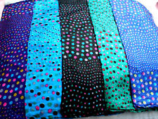 "PURE 100% INDIAN SILK HANDMADE SQUARE SPOTTED SCARF 26""x26""in 5 COLOURS £7.95nwt"