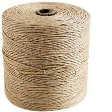 50M Metres 2 Ply Natural Brown Garden Jute Hessian Burlap Twine String Card