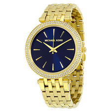 Michael Kors MK3406 Women's Darci Gold tone Stainless Steel Blue Dial Watch