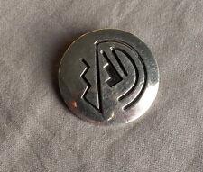 Vintage Silver Modernist Design Overlay Pin Willie Yazzie Navajo