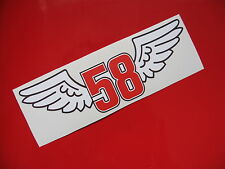Marco SIMONCELLI ALADO 58 X 2 STICKER/DECAL