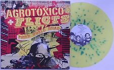 Agrotoxico / Flicts - Split LP YELLOW SPLATTER VINYL Ratos De Porao Brazil Punk