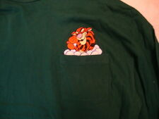 Disney Tigger Winnie the Pooh Dark Green Front Pocket Long sleeve T Shirt 2XL
