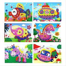 Baby Kid Developmental Game 3D Crystal Mosaics Art Sticker Educational Craft Toy