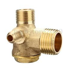 New 3 Port Brass Air Compressor Male Threaded Check Valve Tube Connector Tool