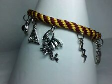 Beautiful Harry Potter kumihimo 10 tibetan silver charm bracelet Gryffindor