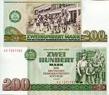GERMANY EAST (DDR) 200 Marks Banknote World Paper Money UNC Currency p32 Note