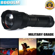 Military Grade 8000LM T6 Torch Cree LED Tactical Flashlight Waterpoof X7 Style