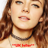 UK Hippy Vintage Retro Stretch Tattoo choker Henna Necklace elastic chocker 90S