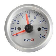 Tacho Tachometer Pointer Gauge Meter 2'' 52mm Car 12V  0- 8000RPM Blue LED New