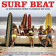 SURF BEAT 40 ENDURING SURF CLASSICS 2 CD NEU DICK DALE/THE HAWKS/THE TRASHMEN/+