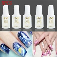 Pro 5 PCS 10g Nail Art BYB Strong Glue with BRUSH for Nail Tips Decoration Set