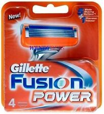 4 GENUINE GILLETTE FUSION POWER SHAVING RAZOR CARTRIDGES BLADES FREE SHIPPING***