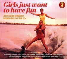 GIRLS JUST WANT TO HAVE FUN - SONGS BY DREAM GIRLS OF THE 50s (NEW SEALED 3CD)