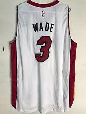 Adidas Swingman 2015-16 NBA Jersey Miami Heat Dwayne Wade White sz 4X