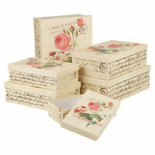 Set Of 6 Gift Boxes Rose Storage Solutions Present Occasions Lidded Stackable