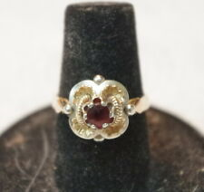 Antique 18k Gold & Blood Ruby Ring