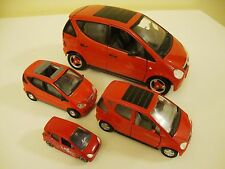 MERCEDEZ BENZ A CLASS 1997 RED MAISTO Lot of 4 Die Cast Cars 1:18 1:24 1:35 1:64
