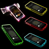 Newly Fashion LED Flash Light UP Remind Incoming Call Cover Case Skin For iPhone
