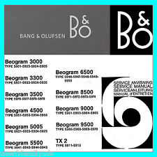 Bang & Olufsen B&O SERVICE MANUALS Schematics & Owners Manual BIGGEST SET CD
