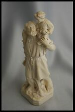 19TH ST CHRISTOPHER & JESUS FRANCE PLASTER STATUE SIGNED PIERACCINI & PELISSIER