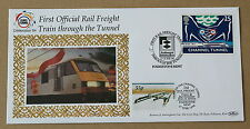 CHANNEL TUNNEL 1ST OFFICIAL RAIL FREIGHT 1994 BENHAM COVER FOLKESTONE HANDSTAMPS