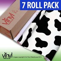 7 PACK of D-C-Fix COW PRINT Sticky Vinyl Fablon - 45cm x 2m