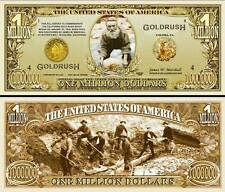 LA RUEE VERS L'OR - BILLET MILLION DOLLAR US ! Collection USA GOLD RUSH PEPITE