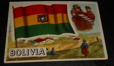 1956 Topps Trading Cards Flags of the World #10 BOLIVIA
