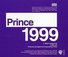 PRINCE 1999 RARE US PROMO ONLY 2 track CD Single