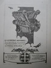 5/1923 PUB LORRAINE DIETRICH MOTEUR AVIATION AERO ENGINE ORIGINAL FRENCH AD