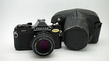 PENTAX MV 35mm Film Camera Body SMC Pentax-M 1:2 50mm Lens + Case
