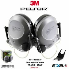 3M Peltor 97043, 6S Tactical Hearing Protector, Black, Behind-the-Head, 19 NRR