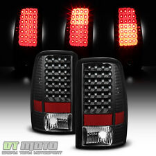 Black 2000-2006 Chevy Suburban 1500 2500 Tahoe Yukon LED Tail Lights Brake Lamps