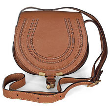 Chloe Marcie Tan Leather Small Round Crossbody Bag