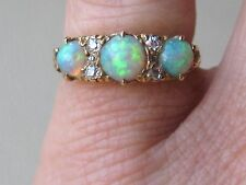 STUNNING EDWARDIAN  OPAL & DIAMOND RING