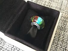 Genuine Pandora Murano Glass Charm Bead Rainbow S925 ALE