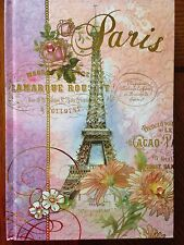 NEW Paris Eiffel Tower Roses French Journal with Rhinestones