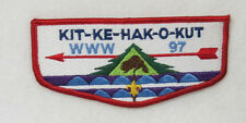 "OA Lodge 97 Kit-Ke-Hak-O-Kut S9 Flap French FDL; BLU ""WWW 97""; CD; back  [B0157]"