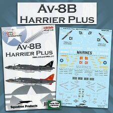 AV-8B Harrier Plus: VMA-214, VMA-211 (1/48 decals, Superscale 481248)