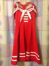 Dead Threads Red Sailor Nautical Swing Dress Pinup Retro Women's S Small NWT