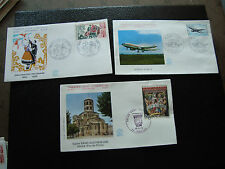 FRANCE - 3 enveloppes 1er jour 1973 (st-austremoine/airbus/polona)(cy59)french(A