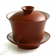 90ml Red Chinese rare Gongfu Tea YiXing ZiSha Glazed Tea cup GaiWan With Saucer