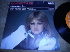 """BONNIE TYLER """"HERE AM I / DONT STOP THE MUSIC"""" 7 INCH SINGLE 1978 USED GERMANY**"""