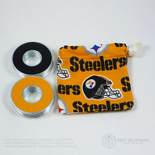 8 VVashers™ w/ Pittsburgh Steelers Fabric Bag| Washer Toss / Washer Game Washers