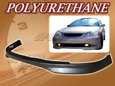 FOR 01-03 CIVIC 2DR 4DR T-R POLYURETHANE PU FRONT BUMPER LIP SPOILER BODY KIT