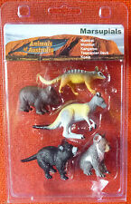 AUSTRALIAN ANIMAL MARSUPIALS COLLECTION SET (5) SMALL REPLICAS in GIFT CLAMPACK